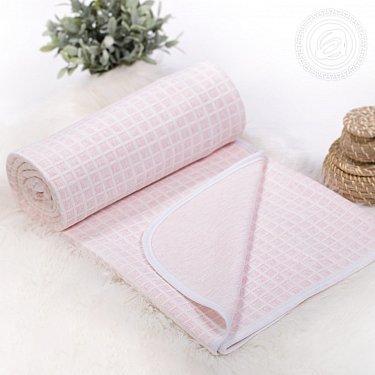 """Одеяло-покрывало трикотажное """"Клетка розовая"""""""