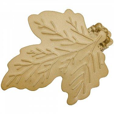 """Держатель-клипса для штор """"Листочек"""", дизайн 117.582, золото матовое"""