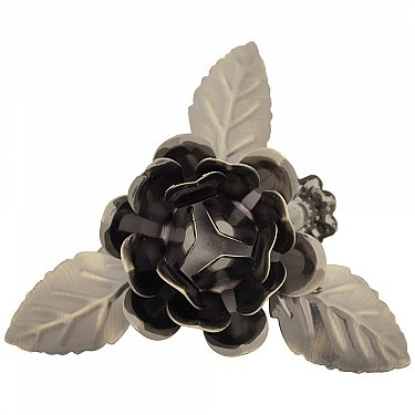 """Держатель-клипса для штор """"Цветок с листьями"""", дизайн 120.650, золото антик"""