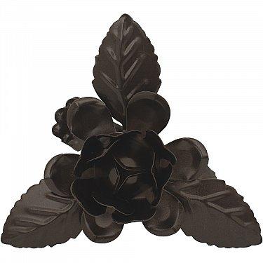 """Держатель-клипса для штор """"Цветок с листьями"""", дизайн 120.655, шоколад"""
