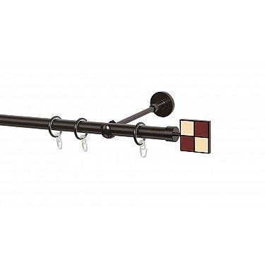 Карниз металлический Arttex с наконечником №116, 1-рядный, шоколад, ø 20 мм