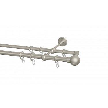 Карниз металлический Arttex с наконечником №18, 2-рядный, сталь, ø 20 мм, ø 16 мм