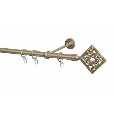 Карниз металлический Arttex с наконечником №260, 1-рядный, бронза, ø 20 мм