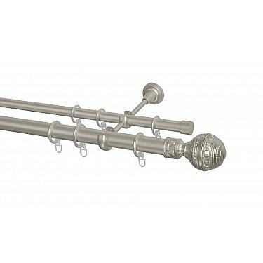 Карниз металлический Arttex с наконечником №255, 2-рядный, сталь, ø 28 мм, ø 20 мм