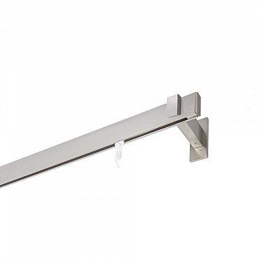 Карниз алюминиевый Хай-тек с наконечником Заглушка, 1-рядный, сатин, ø 32*12 мм