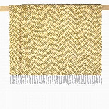 Плед шерстяной Arya Сarmen, желтый, 125*150 см