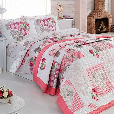 Набор Cotton Box КПБ+покрывало дизайн 01 (Евро)