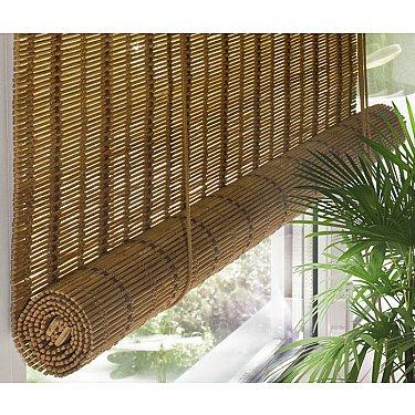 Бамбуковая рулонная штора, медь