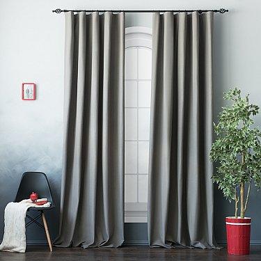Комплект штор БИЛЛИ, серый, 250 см-A