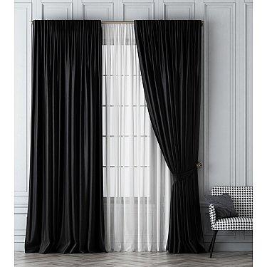 Комплект штор Шанти, черный