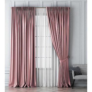 Комплект штор Шанти, розовый