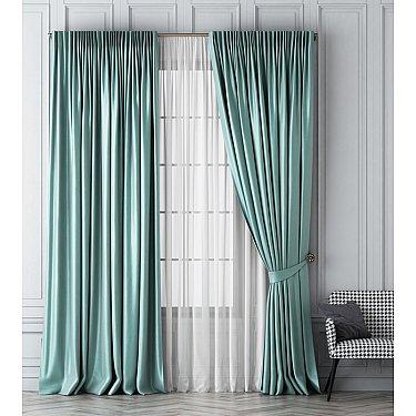Комплект штор Шанти, светло-бирюзовый