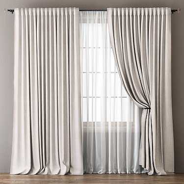 Комплект штор Омма, белый, 240*270 см Брак