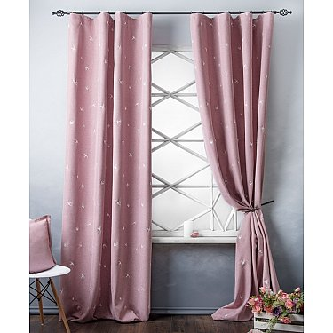 Комплект штор с вышивкой Прайм, розовый, 145*280 см