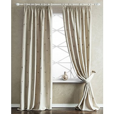 Комплект штор с вышивкой Прайм, кремовый, 145*280 см