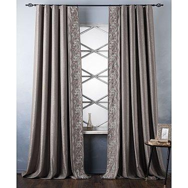 Комплект штор с вышивкой Валери, капучино, 200*270 см