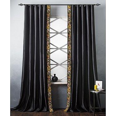 Комплект штор с вышивкой Шарлиз, черный, 200*280 см