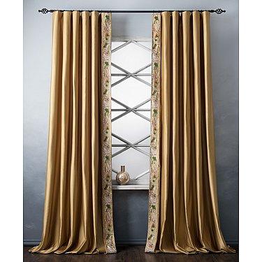 Комплект штор с вышивкой Шарлиз, золотой, 200*280 см