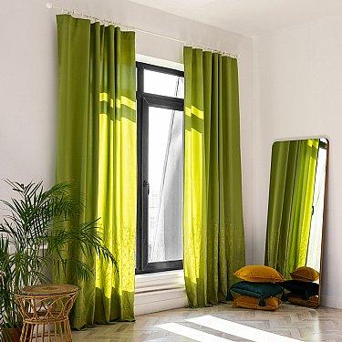 """Комплект штор """"Мьюз"""", зеленый, 145*270 см"""