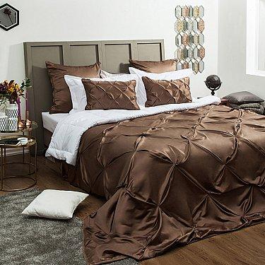 "Покрывало ""Шанти"", коричневый, 250*270 см"