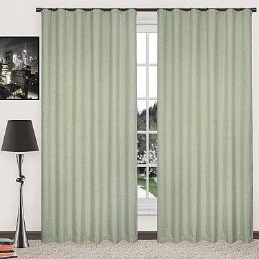 Комплект штор блэкаут-лен В505-8, оливковый