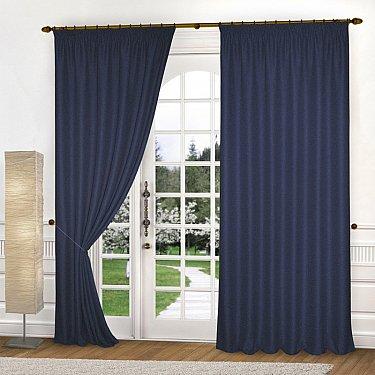 Комплект портьер блэкаут-лен B502-6, синий