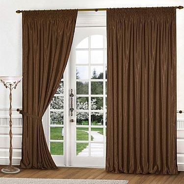 Комплект штор К301-2, коричневый