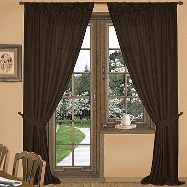 Комплект штор К332-1, темно-коричневый