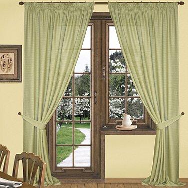 Комплект штор К332-8, оливковый