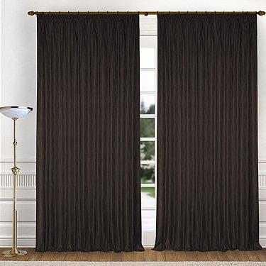 Комплект штор K336-5, коричневый