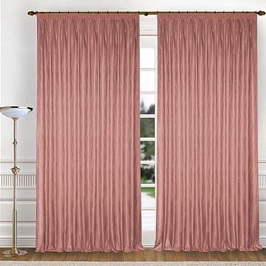 Комплект штор K336-8, розовый
