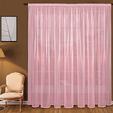 Тюль вуаль T101-9, розовый