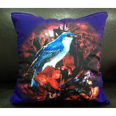 Наволочка 3D односторонняя, фиолетовый, голубой, 50*50 см