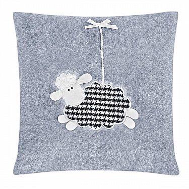 Наволочка декоративная детская с апликацией Arya Happy Sheep, 40*40 см