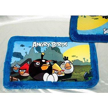 Детский коврик для ванной Angry Birds, 40*60 см