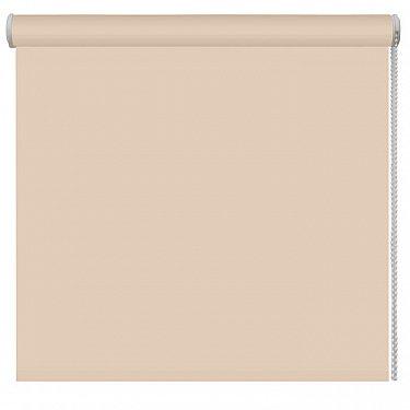 Рулонная штора ролло однотонная, бежевый, ширина 80 см-A