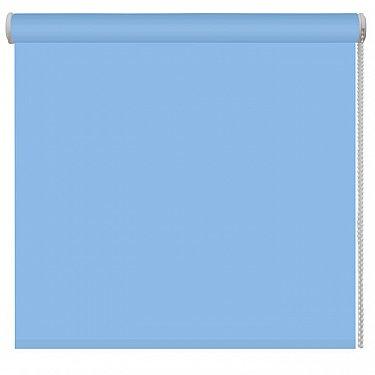Рулонная штора однотонная, голубой