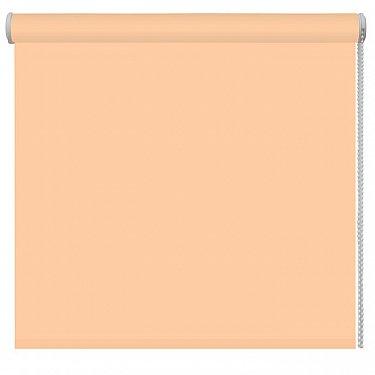 Рулонная штора однотонная, персиковый