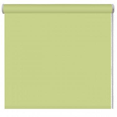 Рулонная штора однотонная, зеленый