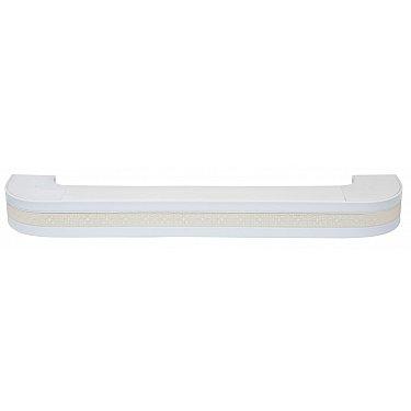 """Карниз потолочный пластиковый поворотный """"Акант"""", 2 ряда, белый"""
