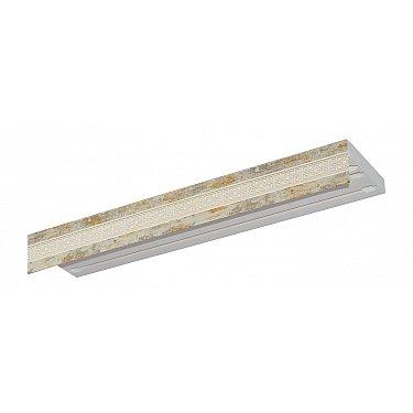"""Карниз потолочный пластиковый без поворота """"Акант"""", 3 ряда, краке, 240 см-A"""