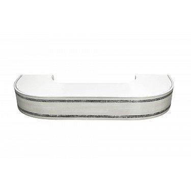 """Карниз потолочный пластиковый поворотный """"Бленда Меланж"""", серебро, 2 ряда"""