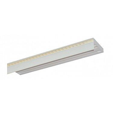 """Карниз потолочный пластиковый без поворота """"Греция"""", 3 ряда, белый, 240 см-A"""