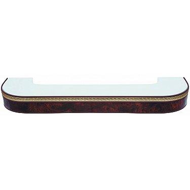 """Карниз потолочный пластиковый поворотный """"Греция"""", 3 ряда, коричневый, 240 см-A"""