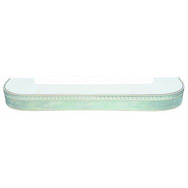 """Карниз потолочный пластиковый поворотный """"Греция"""", 2 ряда, мрамор хром"""