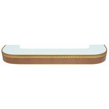 """Карниз потолочный пластиковый поворотный """"Греция"""", 3 ряда, песок"""