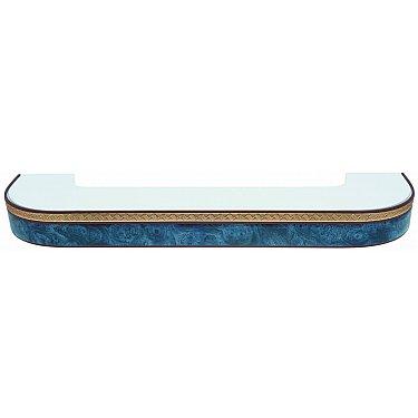 """Карниз потолочный пластиковый поворотный """"Греция"""", 2 ряда, синий"""