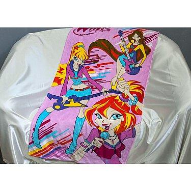 Пляжное полотенце Winx, 75*150 см, розовый