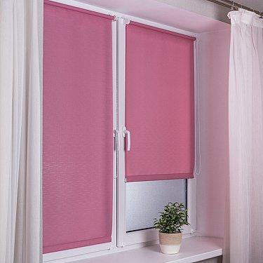 """Рулонная штора эконом """"Сантайм Лен"""", розовый"""