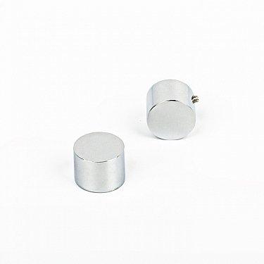 "Комплект заглушек ""Корсо"", хром матовый, диаметр 16 мм"